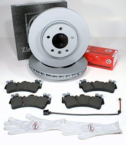 Autoparts-Online Set 60010151 Zimmermann Bremsscheiben 1LE Coat Z/Ø 330 mm Bremsen + Bremsbeläge + Warnkabel für vorne/für die Vorderachse