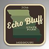 JMM Industries Echo Bluff State Park Missouri calcomanía de Vinilo Retro de Aspecto Vintage, Paquete de 2, 4 Pulgadas por 4 Pulgadas, Laminado Protector UV SPS046