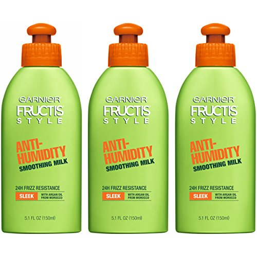 Garnier Fructis Style Anti-Humidity Smoothing Milk for Frizzy Hair, 15.3 Fl Oz