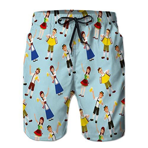 LJKHas232 Costume da Bagno da Uomo Regolabile Slim Fit con Pantaloncini da Spiaggia, Festival della Celebrazione più Oktoberfest XXL