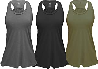 Epic MMA Gear Flowy Racerback Tank Top, Regular and Plus Sizes Pack of 3