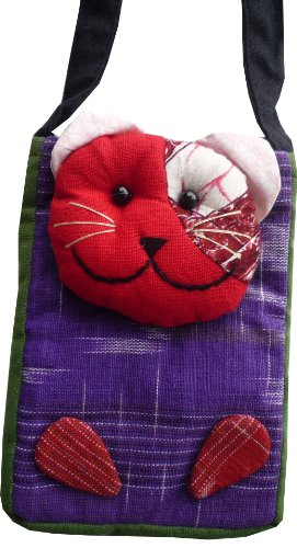 Kinder Brustbeutel als Katze aus Baumwolle