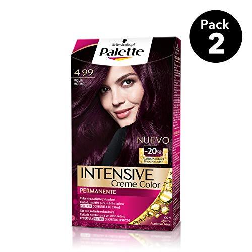 Palette Intense - Tono 4.99 Violín - 2 uds - Coloración Permanente - Schwarzkopf