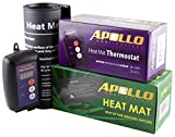 Apollo Horticulture 9'x20' Seedling Heating Mat and Digital Thermostat Combo Set