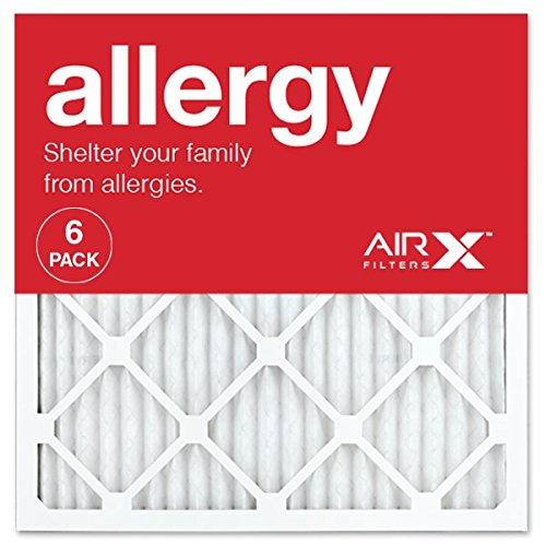 AIRx ALLERGY 20x20x1 MERV 11 Pleated Air Filter - Made in the USA - Box of 6