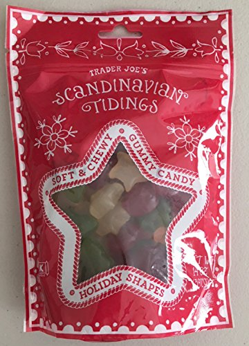 Trader Joe's Scandinavian Tidings Gummy Candy in Holiday Shapes - Kosher & Gluten Free 14 OZ Bag
