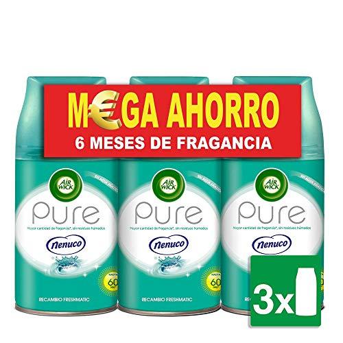 Air Wick Freshmatic Ambientador para el hogar, recambio fragancia Nenuco, pack de 3 x 250 ml - Total: 750 ml