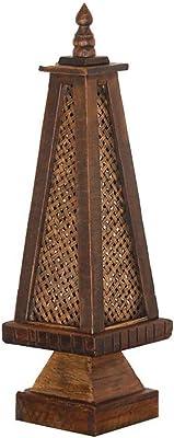 JCCOZ-URG ソリッドウッド手作りのテーブルランプ竹編みは、リビングルームベッドルームカフェに適しソフト装飾ランプ照明家を、彫刻します JCCOZ-URG