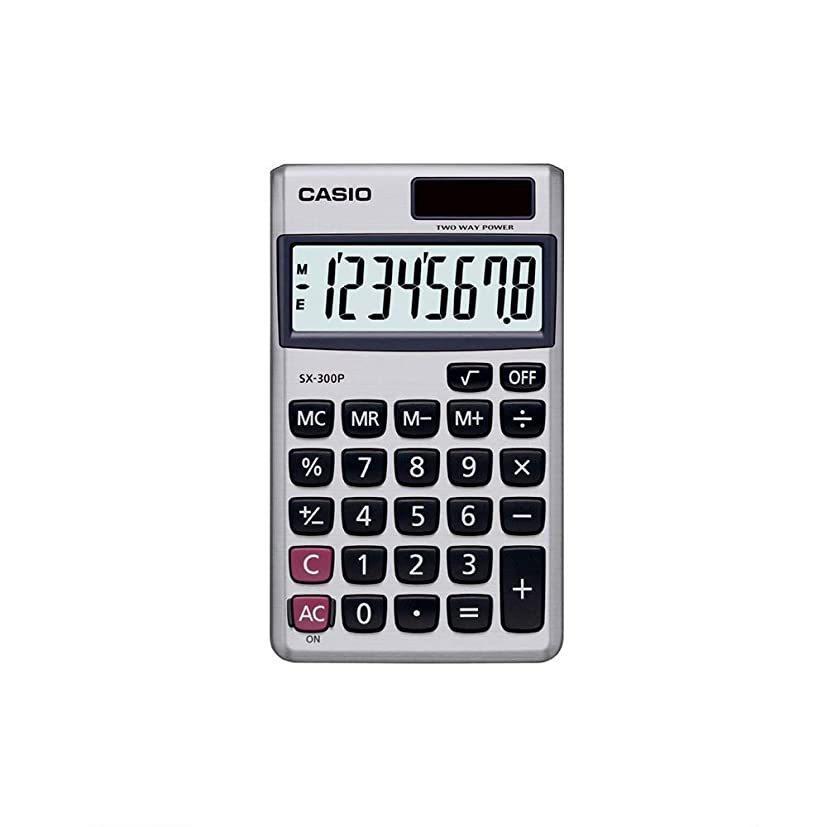 人間スムーズにノイズCasio SX-300P 携帯型8桁電卓 SX300P [並行輸入品]