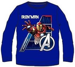 Camiseta Manga Larga Los Vengadores Avengers Azul T.10
