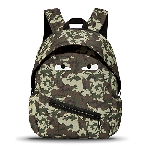 ZIPIT Grillz Backpack for Kids with Extra Side Pocket, Camo Green