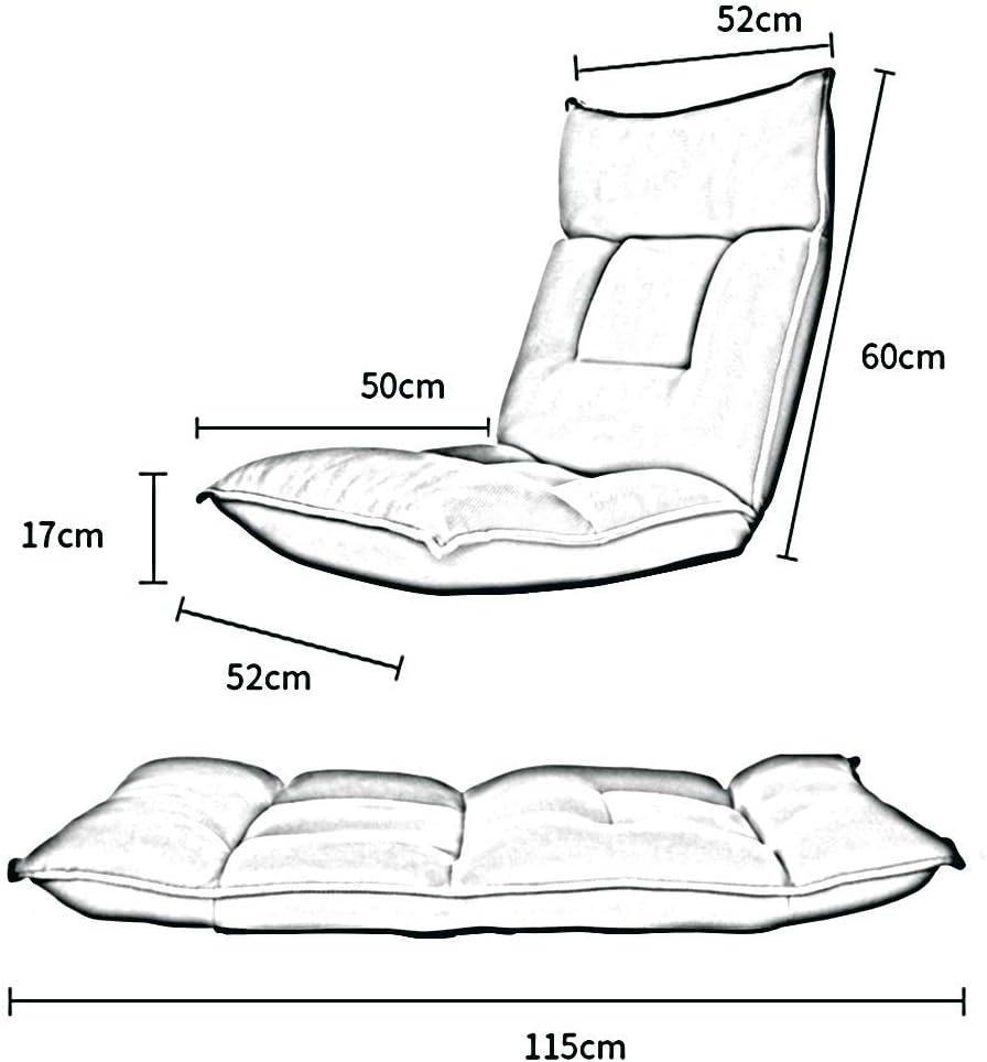 WZF Fauteuils 42 Positions Chaise de Sol réglable Chaise de Dossier Paresseux Pliable pour la méditation, la Lecture, Le visionnage, Le Jeu vidéo (Couleur: C) C