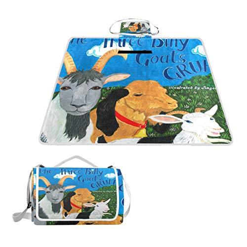 LORONA - Manta de Doble Capa para Pintar Cabras, a Prueba de Arena, para Picnic, 2 en 1, para Viajes, Resistente al Agua, para Deportes al Aire Libre