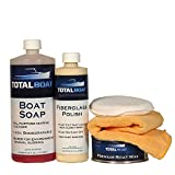 TotalBoat Hand Polishing Kit for Fiberglass Boats and RVs | Clean, Remove Oxidation & Scratches, Polish, and Wax | Includes Soap, Marine Polish, Paste Wax, Polishing Cloth & Wax Applicator
