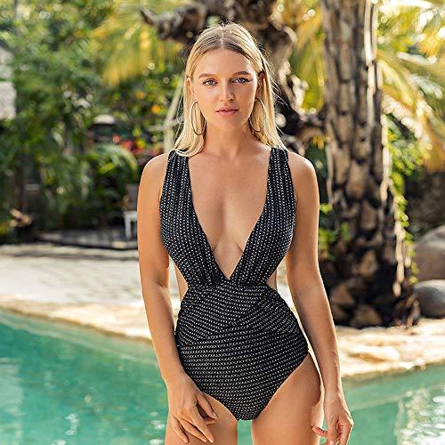 CCM Una Pieza Bikini bañador Profundo v de Push up banadores Mujer Sexy Bikini Trajes de baño de una Pieza Retro Brasileños Sexy Traje De Baño Traje de Baño de Una Pieza para Mujer