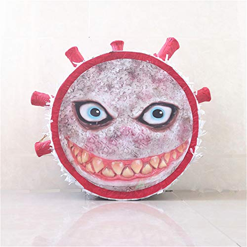 Mini Pinata Ugly Coronavirus Break It Stay Home Together Toy Piñata Birthday Festa Xmas Isolation Party Covidpinata Covid -19 Pinata Birthday Pinata Holds 5-8 Lbs of Candy Red