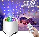 Amouhom White noise machine, Sternenhimmel Projektor für Kinder, Bluetooth Lautsprecher Baby...