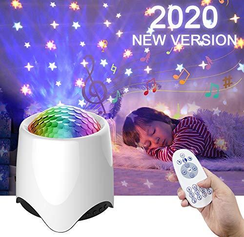 Amouhom White noise machine, Sternenhimmel Projektor für Kinder, Bluetooth Lautsprecher Baby Einschlafhilfe mit Fernbedienung/Projektionslampe für Kinderzimmer/Schlafzimmer/Party/Weihnachten