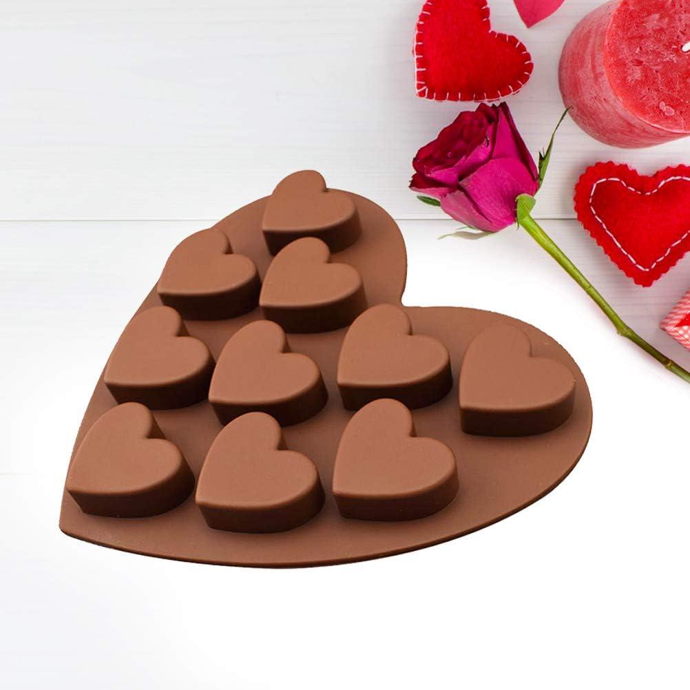 Amazon.com Keemov 20 Hole Heart Ice Cube Trays Silicone Reusable ...