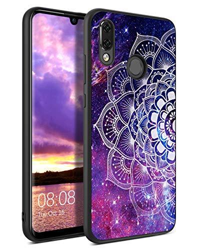 YINLAI Huawei P Smart 2019 Hülle Honor 10 Lite Handyhülle Lila Mandala Nebula Muster mit TPU Bumper Hybrid PC Schale rutschfeste Fallschutz Kratzfest Schutzhülle für Huawei P Smart 2019 Honor 10 Lite