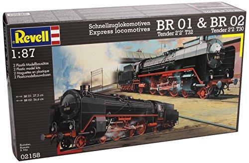 Revell Modellbausatz 02158 - Schnellzuglokomotiven BR 01&BR02 im Maßstab 1:87