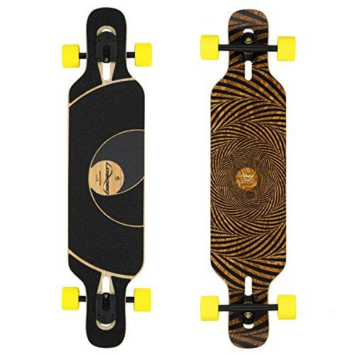 Loaded Boards Tan Tien Bamboo Longboard Skateboard Complete (86a Stimulus, Flex 1)