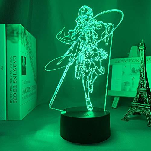 DUYAO00 - Luces 3D para el Día de la Madre, diseño de anime y ataque de titanio Levy Ackerman