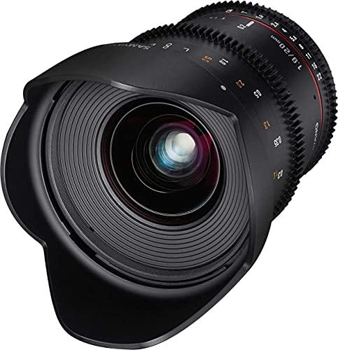 Samyang SA1413 - Objetivo para Video VDSLR II para Fuji X (20 mm, T1.9 ED, AS UMC), Negro