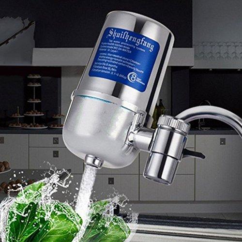 Wasser Filtersystem, Wasserhahn Wasserfilter mit Wasser Filterkartuschen für Küche - Passt Standard Armaturen Faucet Filters
