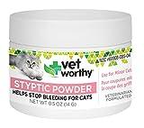 Vet Worthy Styptic Powder for Cats (0.5 oz Powder)