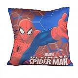 MARVEL Spiderman Kopfkissen Kissen 40x40 Dekokissen Kinderzimmer Schlafkissen Kissenbezug blau rot ,...