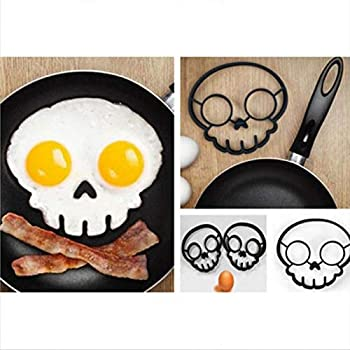 Breakfast Omelette Mold Silicone Egg Pancake Ring Shaper Cooking Tool DIY Kitchen Accessories Gadget Egg Fired Mould  Skull