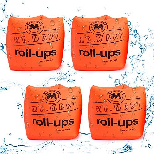 Punvot Schwimmflügel Kinder, Schwimmhilfe Schwimmreifen 4 Pack Aufblasbare Armbänder, Schwimmreife Armumfang Design für Babys von 1-6 Jahre, Aufblasbare Schwimmflügel für Pool, Strand, Meer, See