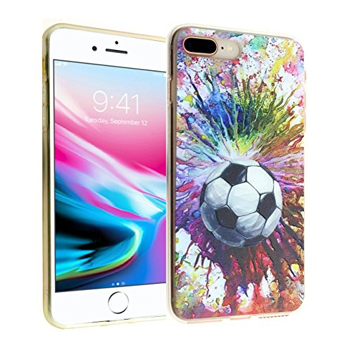iPhone 7 8 Plus CASEMPIRE Soccer Ball Paint Splash TPU Case Shock Proof Never Fade Slim Fit Cover for Apple iPhone 7 8 Plus Soccer TPU