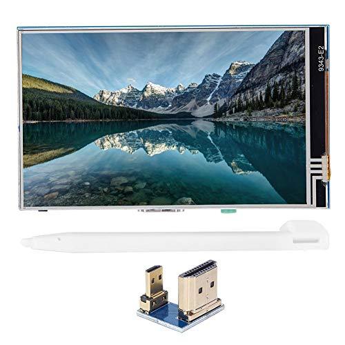 Pantalla LCD, Monitor de 4 Pulgadas Pantalla HDMI Pantalla táctil TFT 800 x 480 IPS HD para Raspberry Pi 3B +/4B