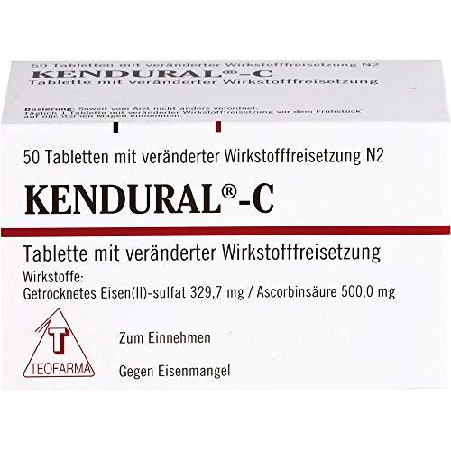 KENDURAL-C Tabletten gegen Eisenmangel, 50 St. Tabletten