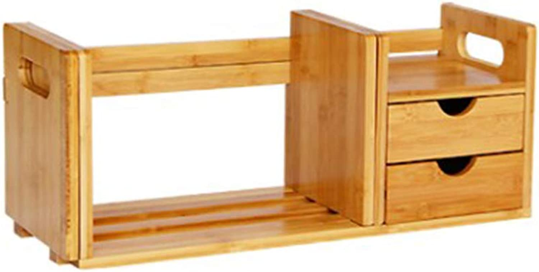 Book Stand, Drawer Desktop Storage Bookshelf Office File Finishing (Size   A)
