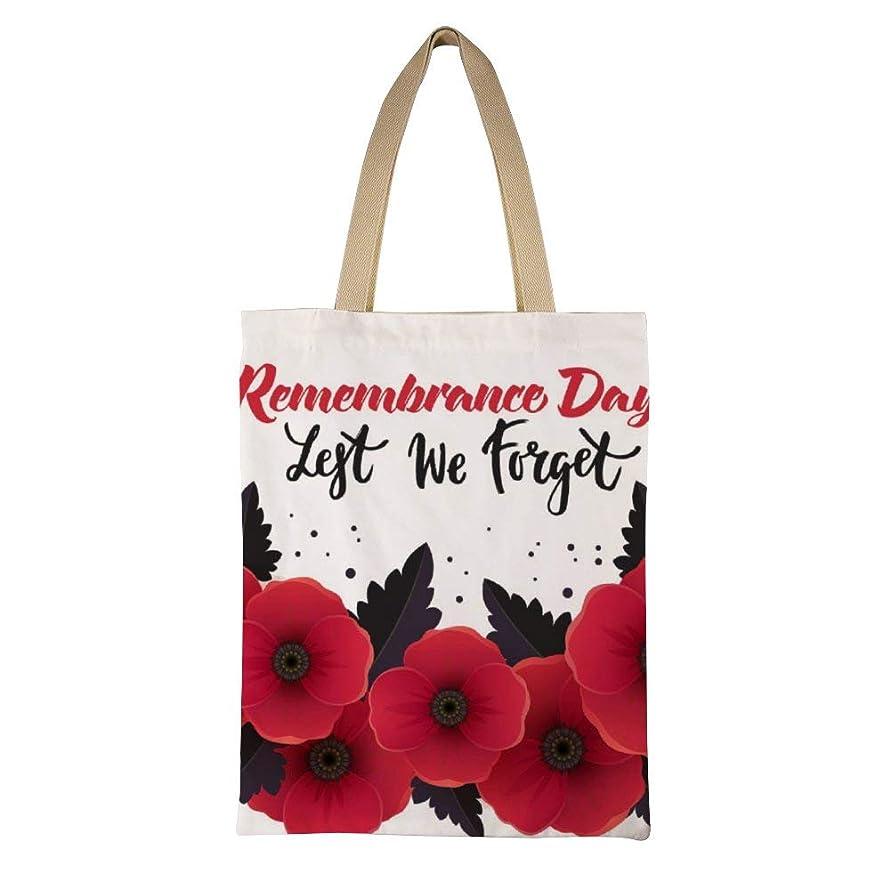 祈りクリーナー抑圧Remembrance-day-poster-vector-18430391 レディース キャンバストートバッグ ハンドバッグキャンバスショルダーバッグ通勤通学 大容量 軽量