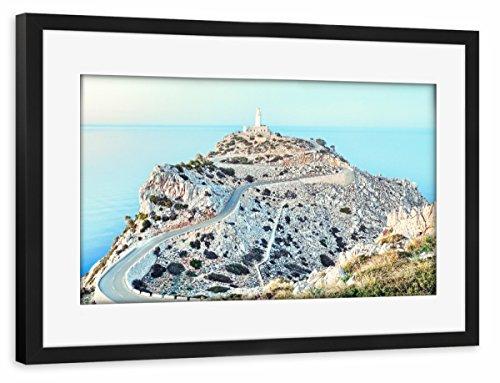 artboxONE Poster mit Rahmen schwarz 30x20 cm Cap Formentor, Mallorca von pixelliebe - gerahmtes Poster