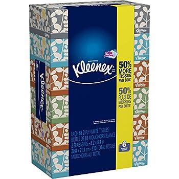 Kleenex Everyday Facial Tissues 85 Tissues per Flat Box Pack of 6