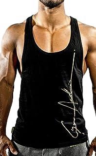 Keaac メンズストリンガーボディービル筋肉トレーニングフィットネスタンクトップ