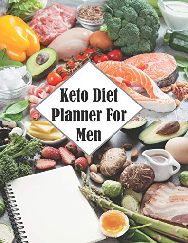 Keto Diet Planner For Men: Track Your Progress with This Journal Notebook Paperback | 200 Pages | Size: 8.5' by 11'