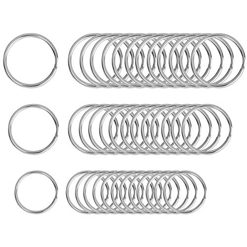 Beadnova Key Chain Ring Metal Split Ring for Dog Tag and Keys Organization (Assorted, 36pcs)