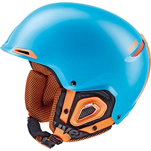Uvex Skihelm JAKK, Petrol-Orange Mat, 52-55 cm