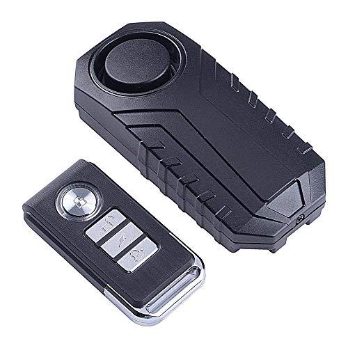 ECTECH Alarma antirrobo de vehículos, Alarma de vibración inalámbrica de Seguridad antirrobo para el Coche de la Motocicleta de la Bici Puerta Ventana, 113db Alto, 1 Remoto y 1 alarmas