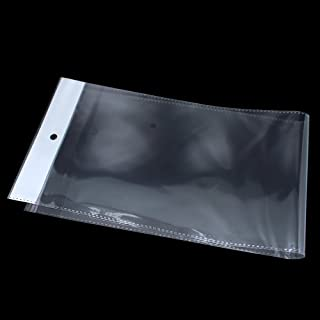 100 Pack Clear Self Adhesive Straight Hair Packaging Bags with Hang Hole Wigs Hair Storage Beauty Personal Care Hair Care ...