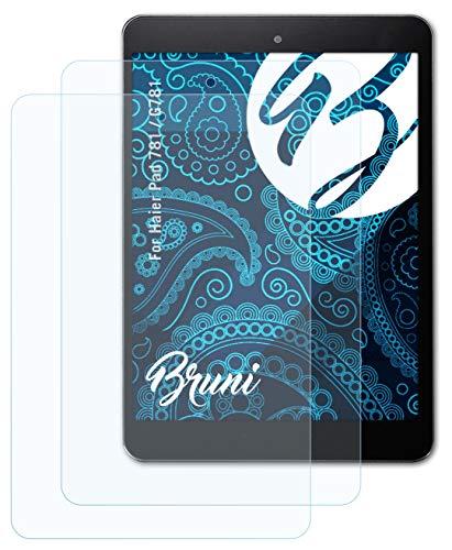 Bruni Schutzfolie kompatibel mit Haier Pad 781 / G781 Folie, glasklare Bildschirmschutzfolie (2X)