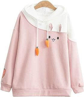 Women Hoodies Patchwork Kawaii Rabbit Sweatshirt Harajuku Outerwear
