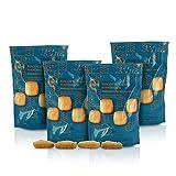 Sacchetto di Biscotti salati con Parmigiano Reggiano DOP, per Uno Snack o merenda Originali, Fatti a Mano - 80g (Confezione da 4 Pezzi)