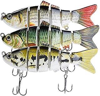 Avanty Fishing Lures Lifelike Topwater Bass Lures Swimbaits Pack of 3